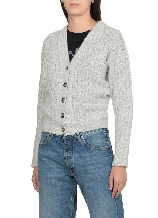 Wool and cashmere knitted cardigan