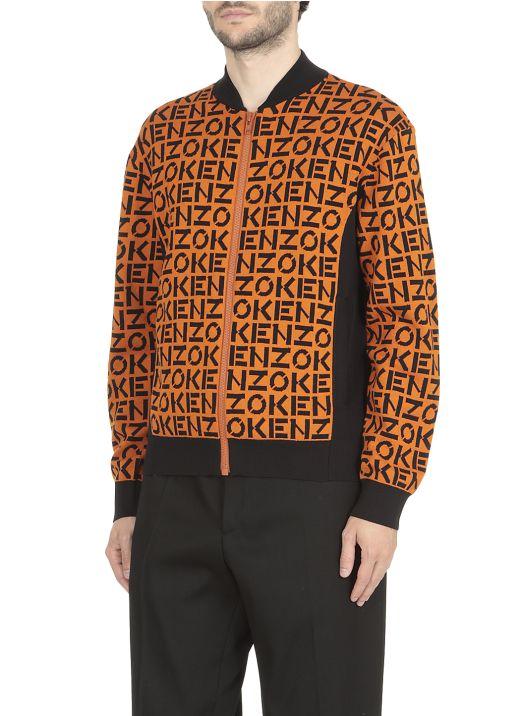 Loged zip sweater