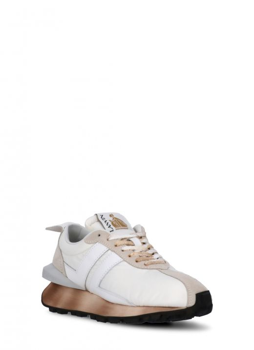 Fabric loged sneakers
