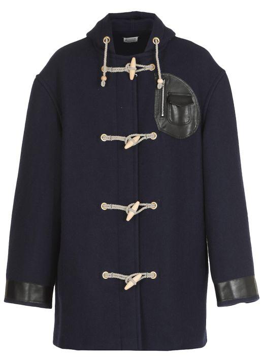 Wool Montgomery coat