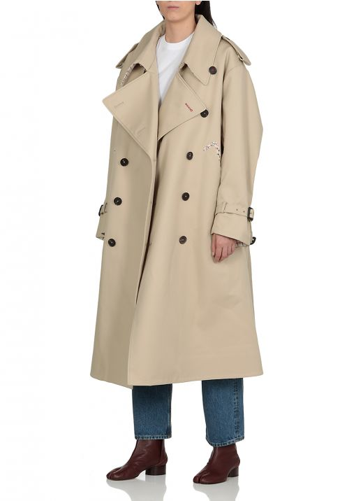 Decortique double breasted trench coat