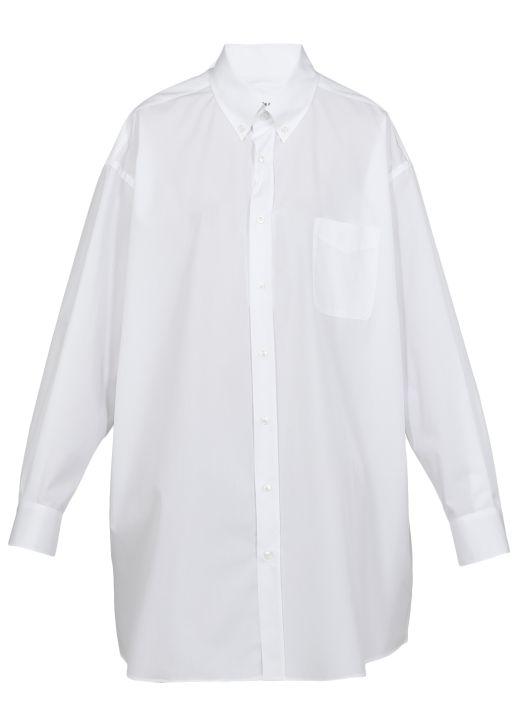 Satin oversize shirt