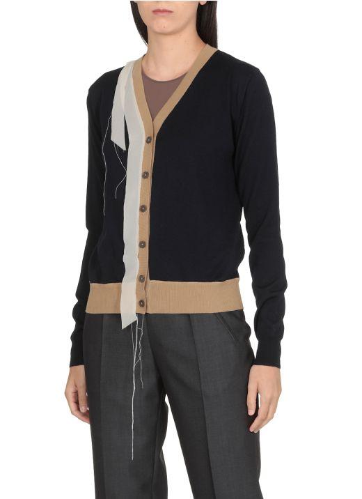 Color-block cardigan