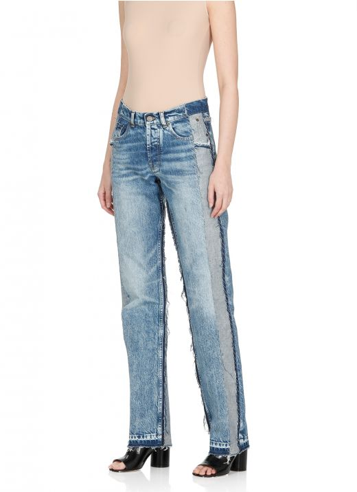 Spliced Recycled jeans