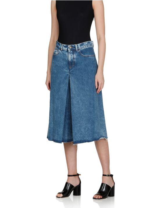 Spliced culottes pants
