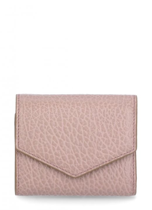 Creased leather wallet