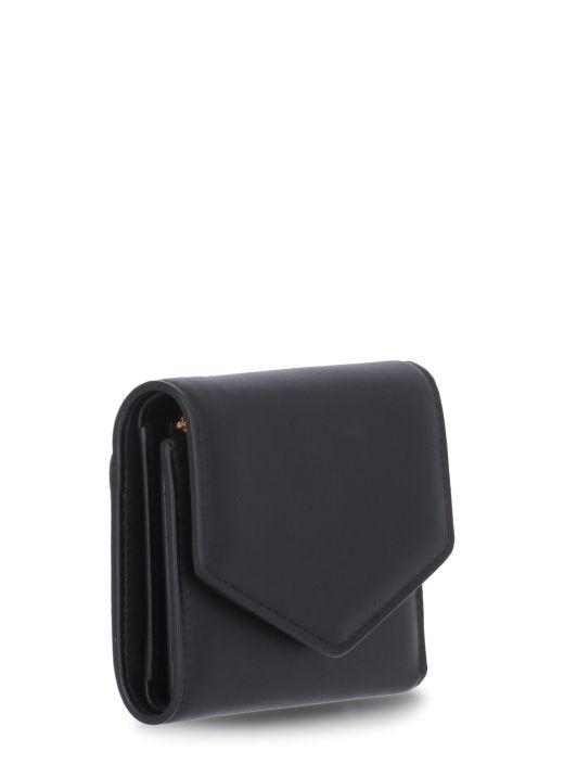 Calfskin pouch wallet