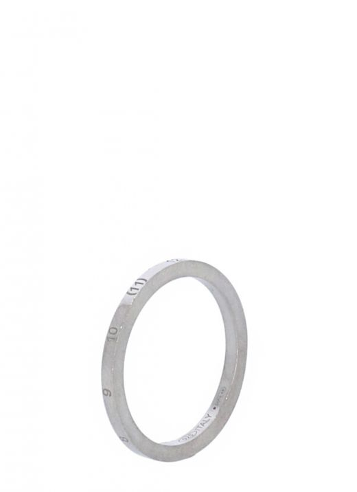 Thin ring with numerical logo