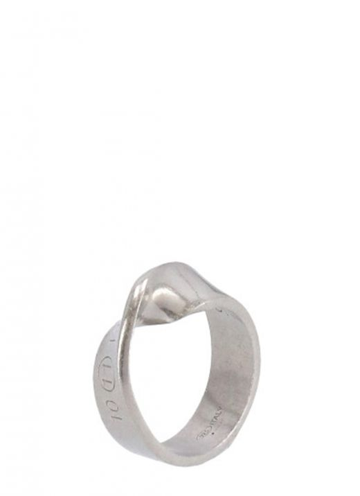 Twisted ring with logo