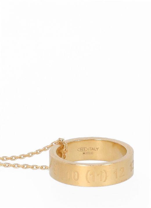 Necklace with numerical logo ring