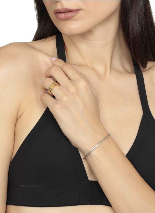 Number logo rigid slim bracelet