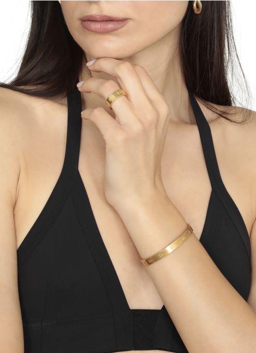 Number logo rigid bracelet
