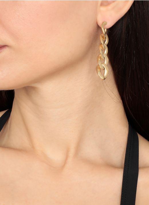 Number logo drop earrings