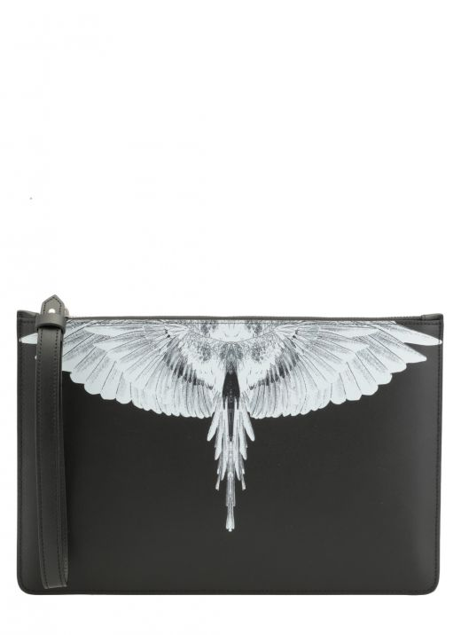 Wings leather pouch