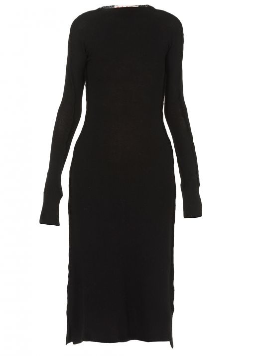 Long dress with extra long sleeves
