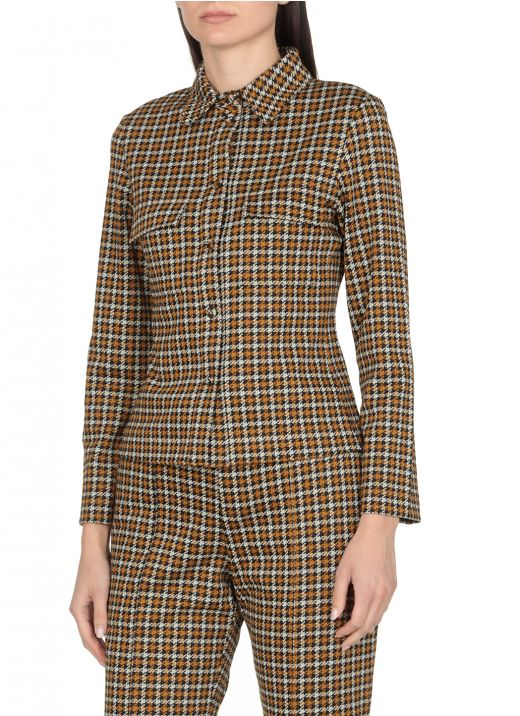 Shirt with with houndstooth pattern