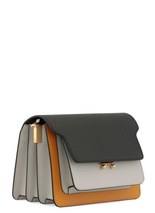 Calf leather trunk bag