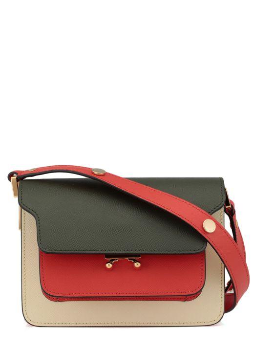 Bovine leather shoulder bag