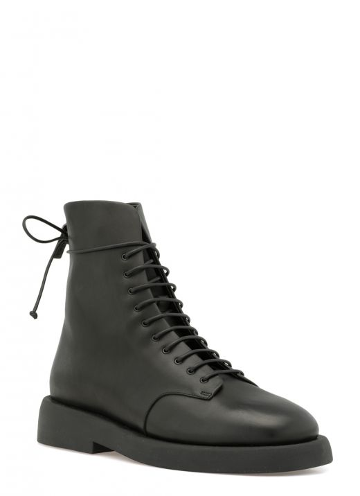 Leather army boot