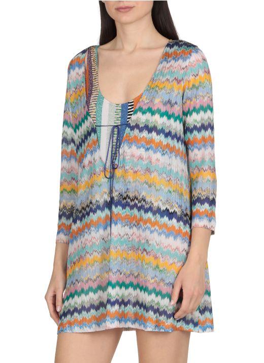 Multicolor beach robe