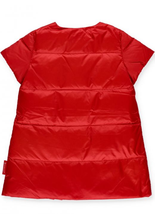 Padded and quilted dress