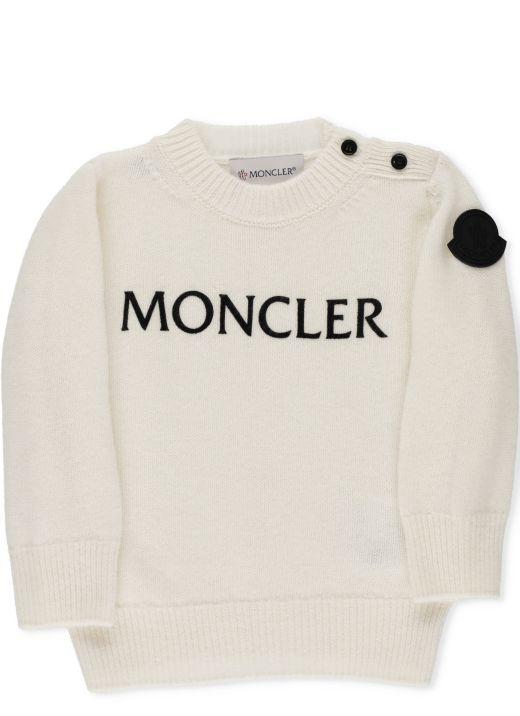 Round neck tricot sweater