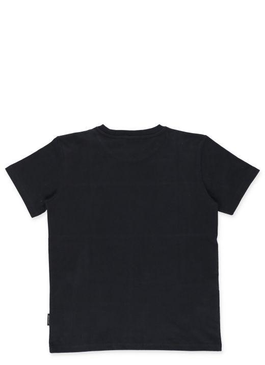 T-shirt with laser-cut logo