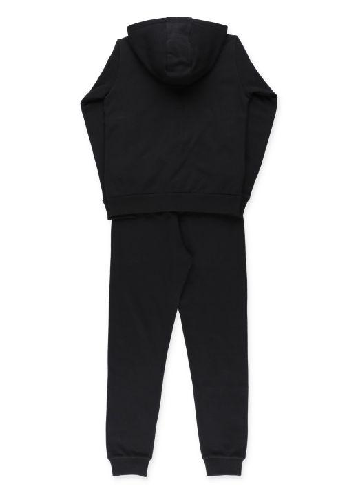 Cotton sweatshirt and track pant set