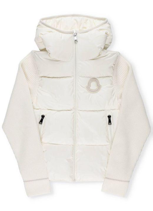 Padded jacket with logo