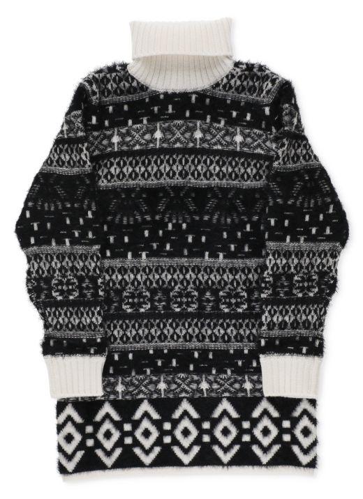Wool jacquard dress