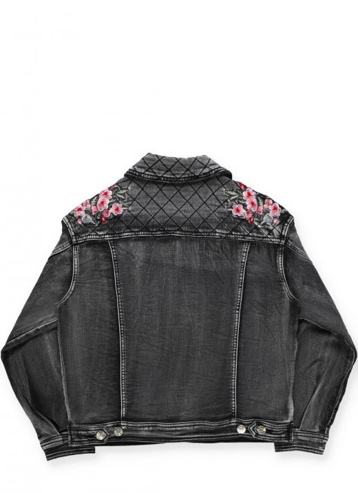 Embroidered jeans jacket