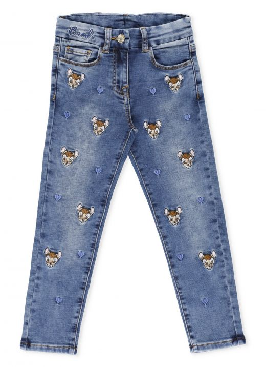 Bambi embroidery jeans