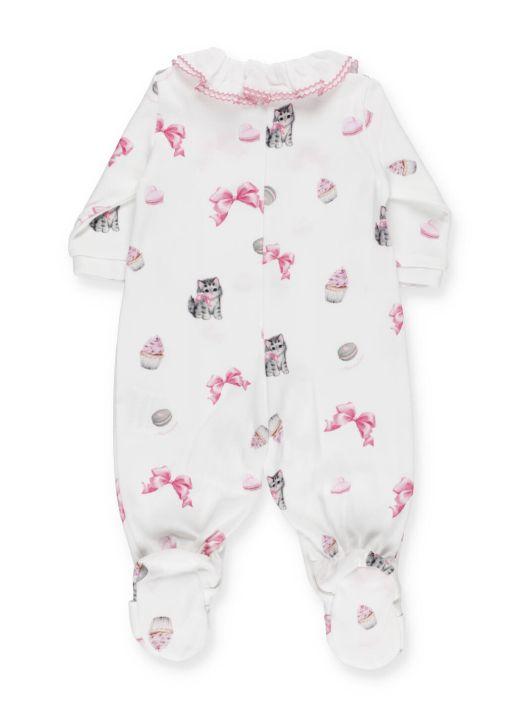 Printed baby romper