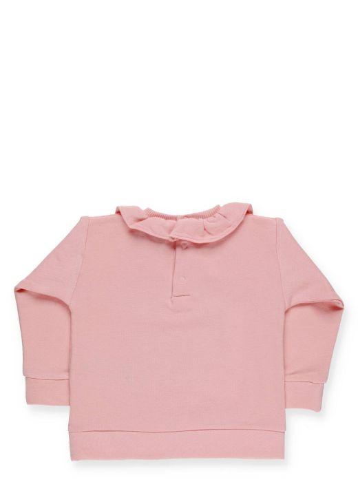 Teddy Bear sweatshirt with rouches