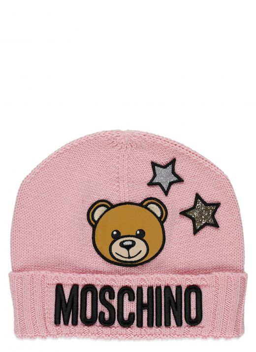 Starry Teddy bear knitted hat