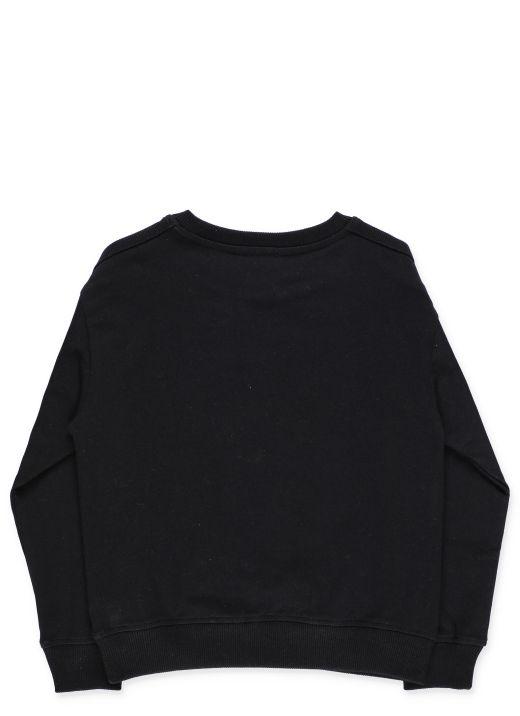 Neon cotton sweatshirt with logo