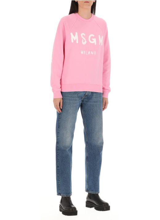 Brushed logo sweatshirt