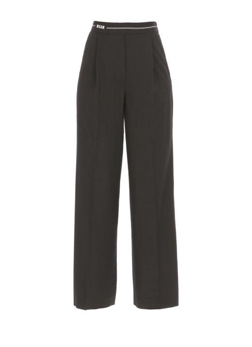 Wool palazzo trouser