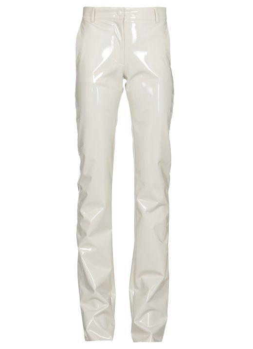 Coated fabric trouser