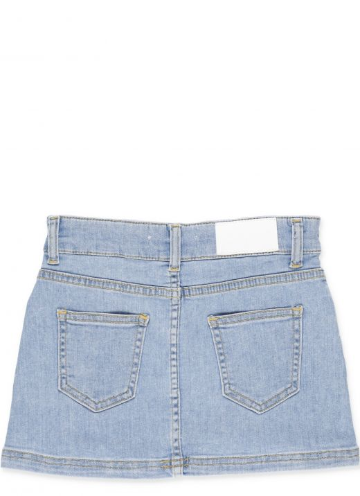 Jeans skirt with logo