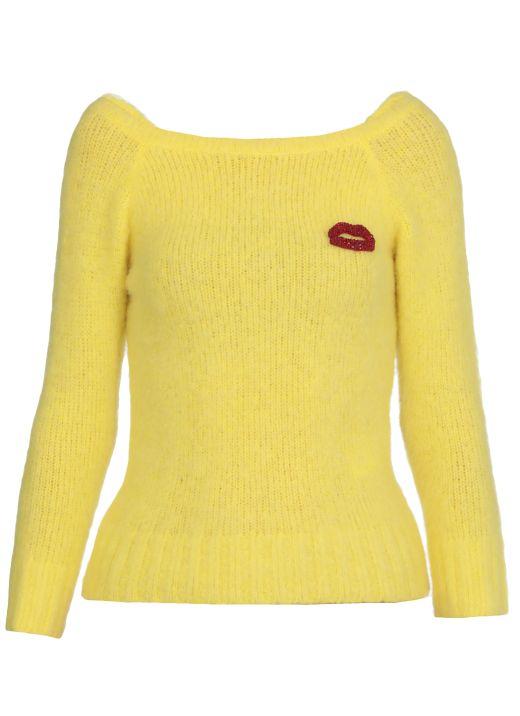 Kiss decoration sweater