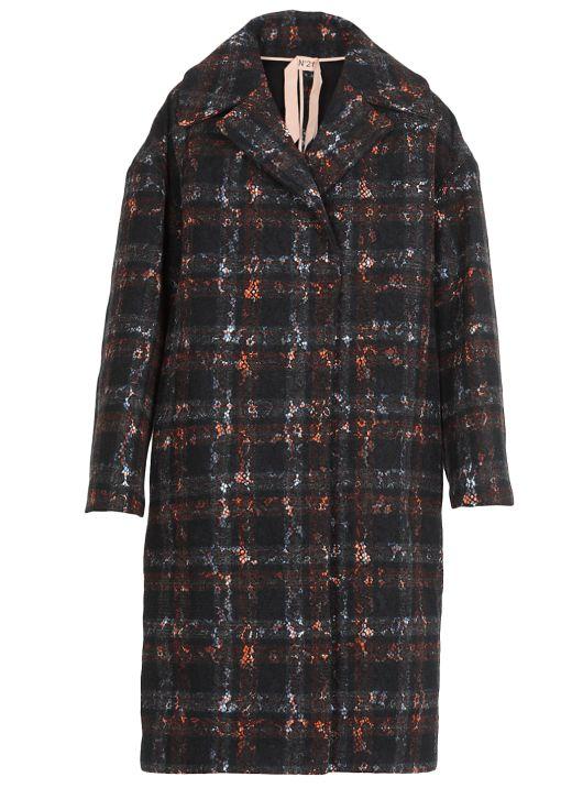 Oversize tartan coat