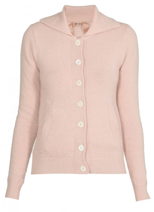 Mohair knitted cardigan