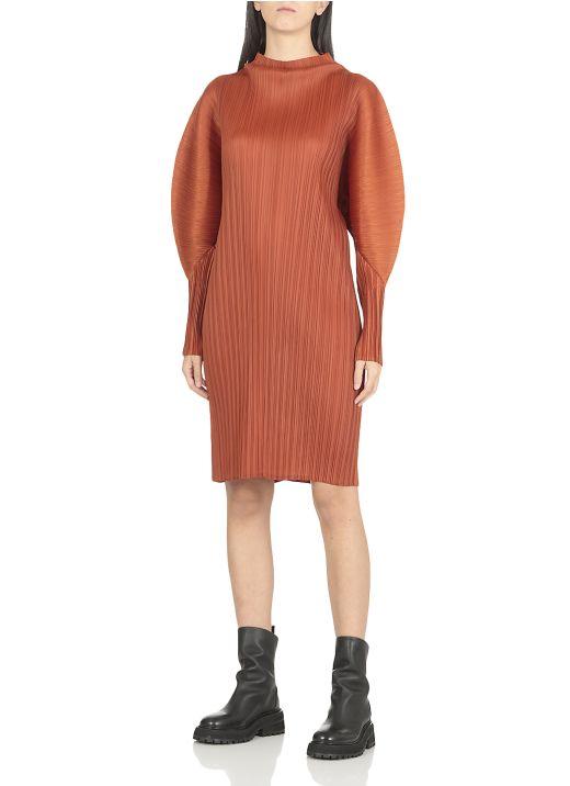 Pleated fabric dress
