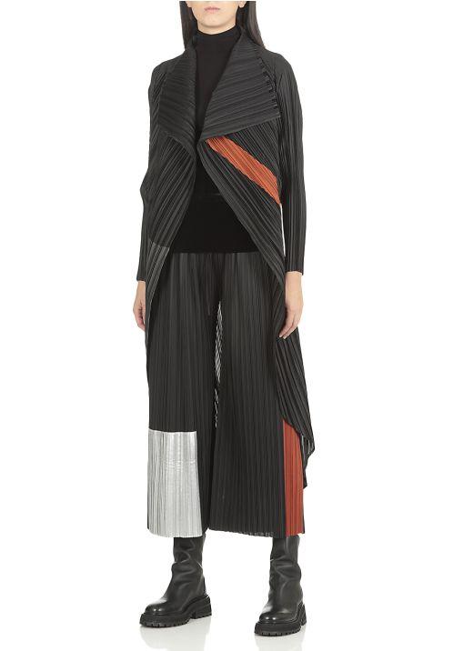 Long pleated cardigan