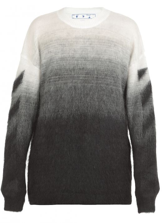 Sweater with diagonal