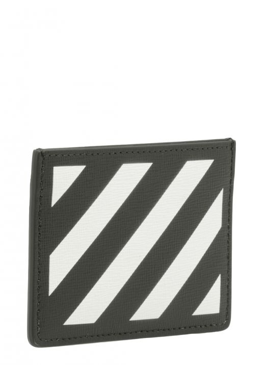Diag leather card holder