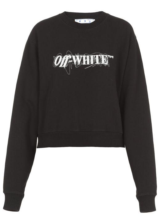 Pen Logo Crop Sweatshirt