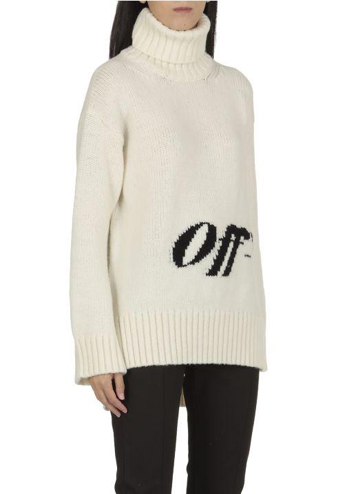 Intarsia logo sweater
