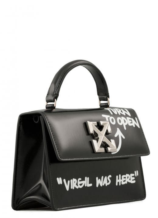 Shiny leather shoulder bag